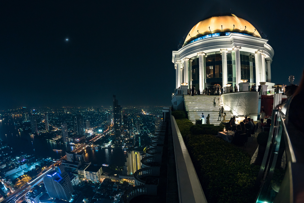 Bangkok skyline from the Scirocco Sky Bar over the Lebua Hotel _362400056