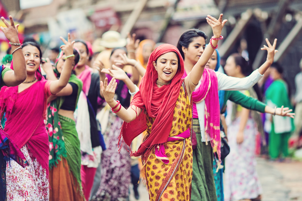 Kathmandu during Teej festival_362691194