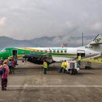 airplane flying from Pokhara to Kathmandu_358682270