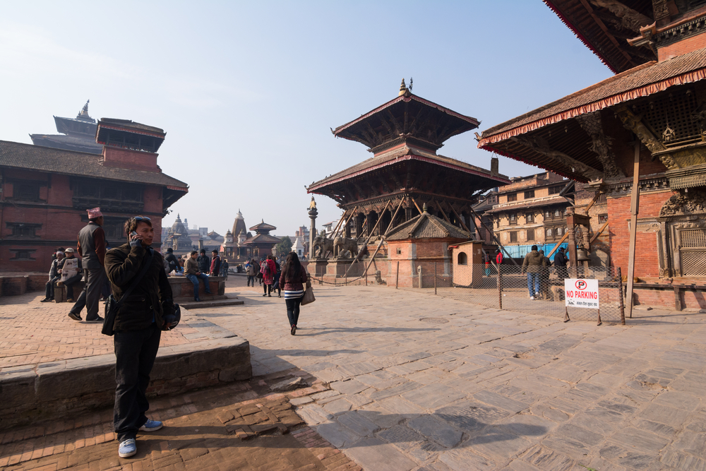 Patan Durbar Square in napel_372342892