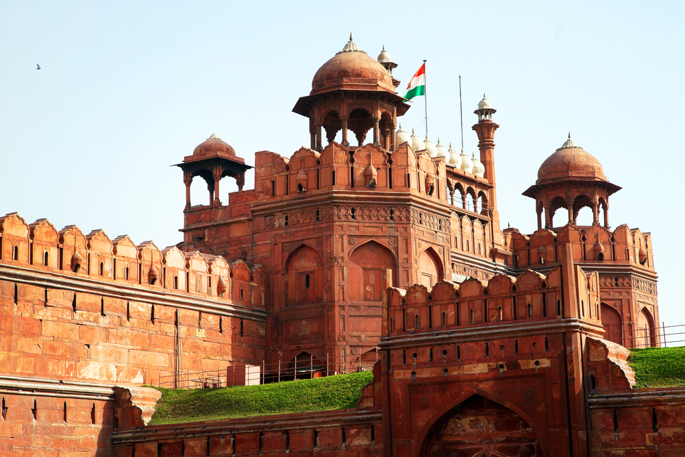 Lal Qila - Red Fort in Delhi_368378894