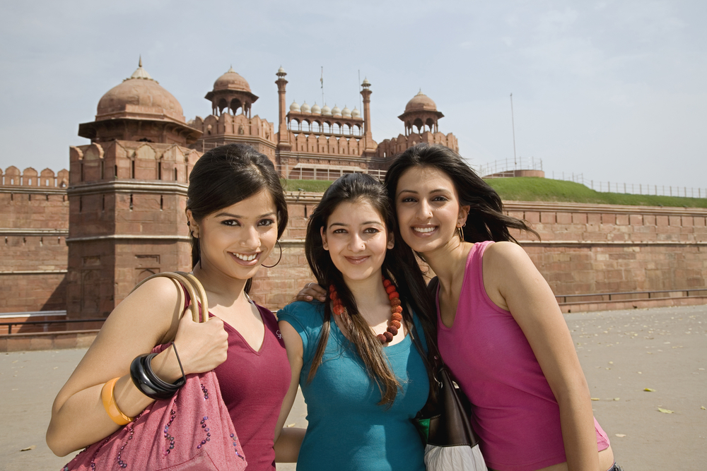 Girls in front of the Red Fort_308335748