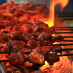 Meat Kebab on the streets of Chandni Chowk, Delhi_398729074