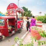 public park around Indian gate_386019475