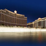 Fountain by Bellagio and Caesars palaces_397006474