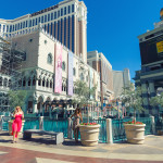 World famous Vegas Strip in Las Vegas, Nevada_377461426