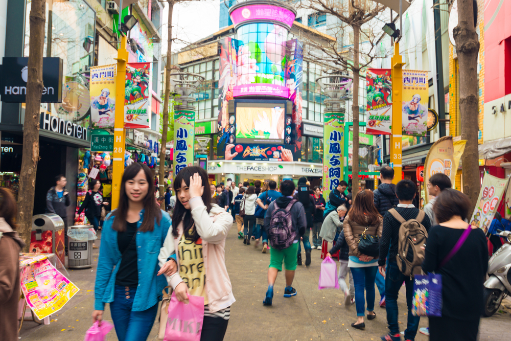 Ximending street market in Taipei_265657544