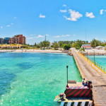 Punta Sam pier and coastline in Cancun_204878512