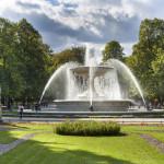 Historic fountain in Saski park (Saxon Garden)_329169575