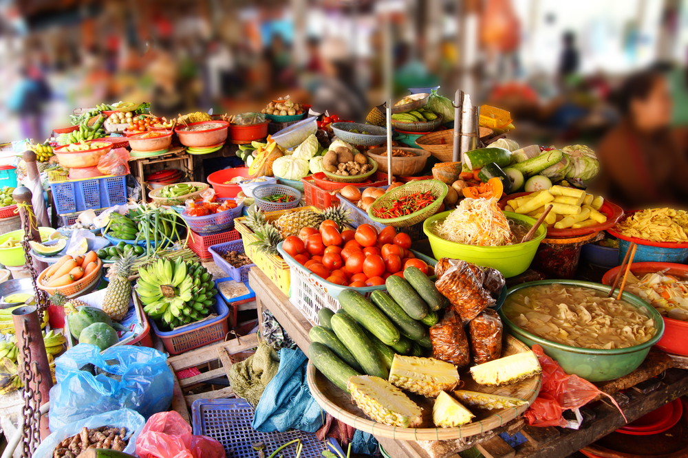 Colorful vegetables for sale at the Central Market of Hoi An, Vietnam_269743661