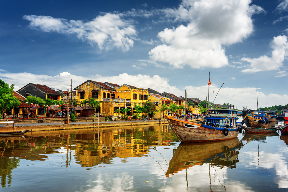 Thu Bon River in Hoi An Ancient Town_379190800