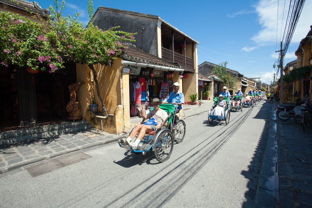 Pedicabs sight seeing city tour in Hoi An_228688123