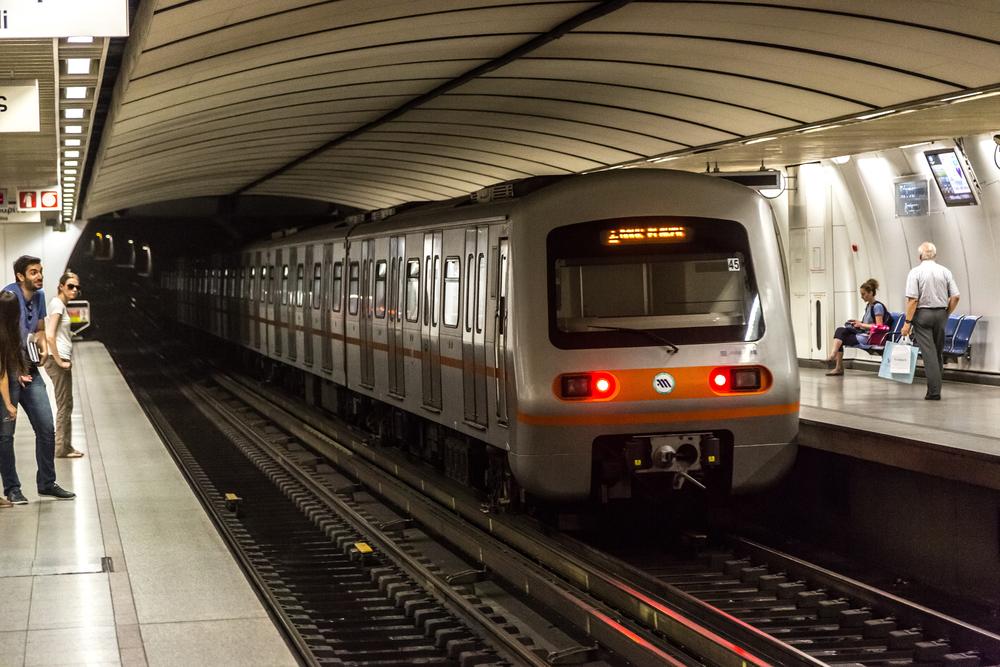 Underground metro station in Athens_406171606