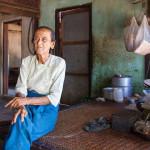 old lady in BAGAN, MYANMAR_410542648