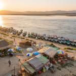 Irrawaddy River, Bagan, Myanmar_378628933