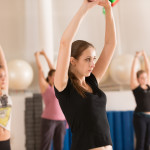 Dance class for women at fitness centre_337878275