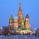 St. Basil's Cathedral at night on Red square_408652216