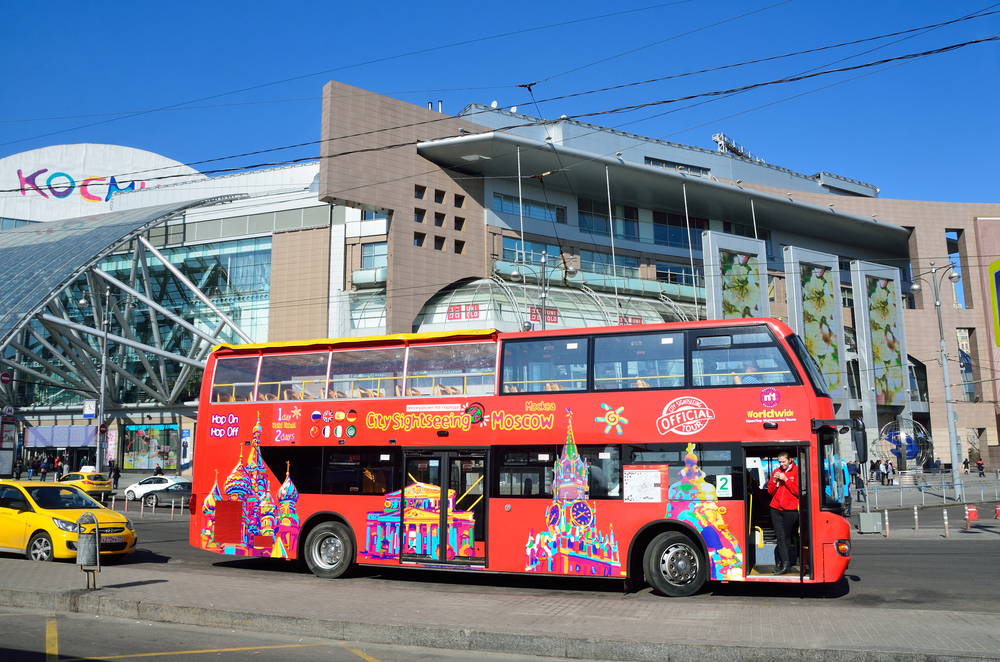Double-Decker tour bus City Sightseeing_401265250