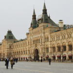 Red square, view of GUM department store_402153946