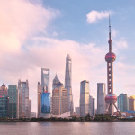 beautiful shanghai bund viewed from North Binjiang_337751462
