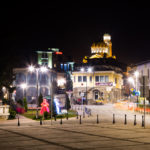 Night view of cathedral, martenitsa figurines and square_315577688