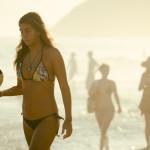Ipanema Beach in a game of keepy uppy beach soccer_280681571