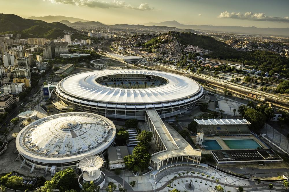 Maracana Stadium with panorama of Rio De Janeiro_380047378
