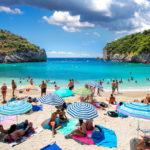 Beautiful beach in Paleokastritsa on Corfu_310708394