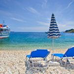 Beach scene from Corfu island_2077443