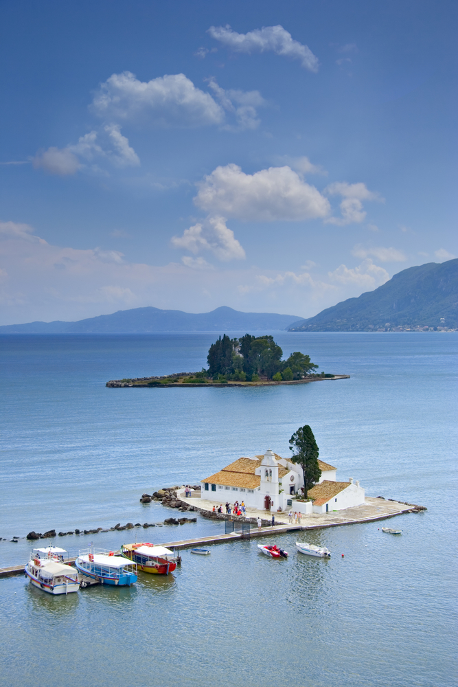 church and mouse island on Corfu_1904834