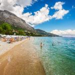 Beautiful beach in Barbati on Corfu_316176716