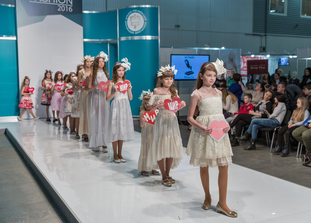 Children fashion models at Kyiv Fashion 2016 show in KyivExpoPlaza_393147025