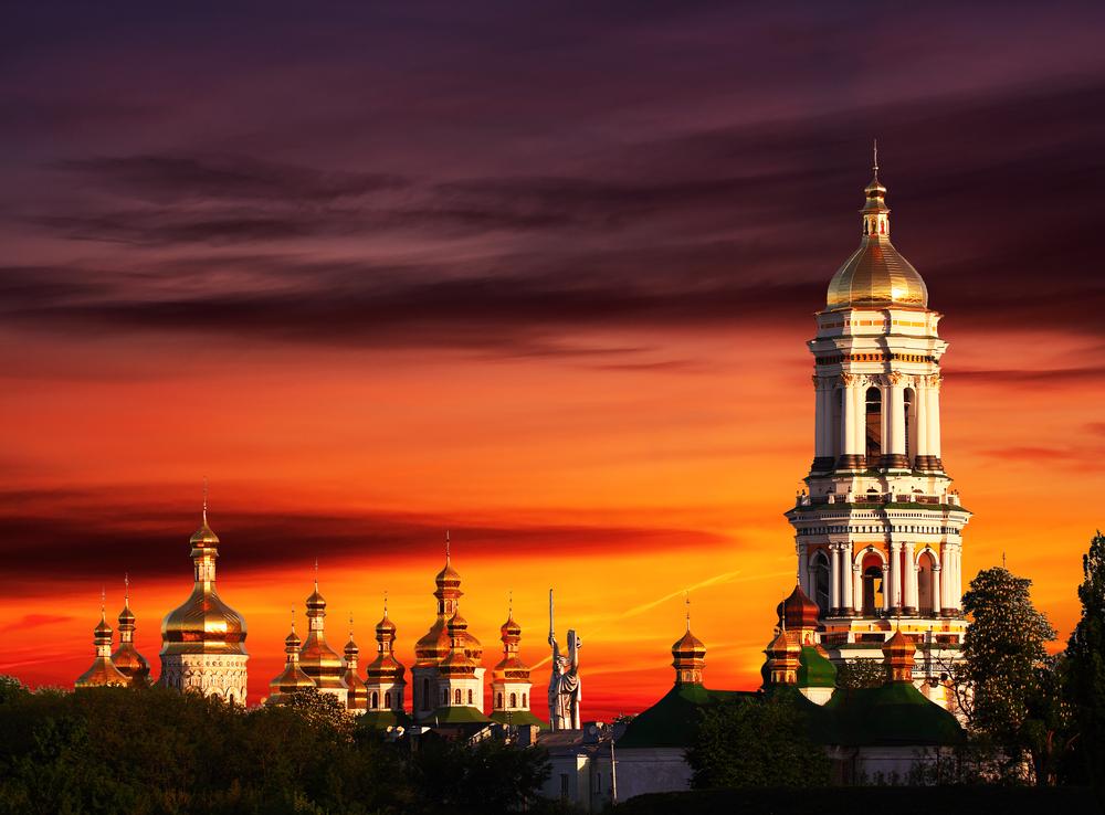 Famous Pechersk Lavra Monastery in Kiev_138057227