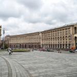 Maidan Nezalezhnosti Square and Khreshchatyk Avenue in Kiev_396555646