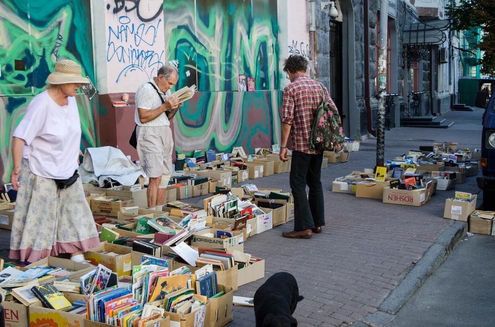 tourist souvenirs market on Andrew Descent in Kiev, Ukraine_304443332