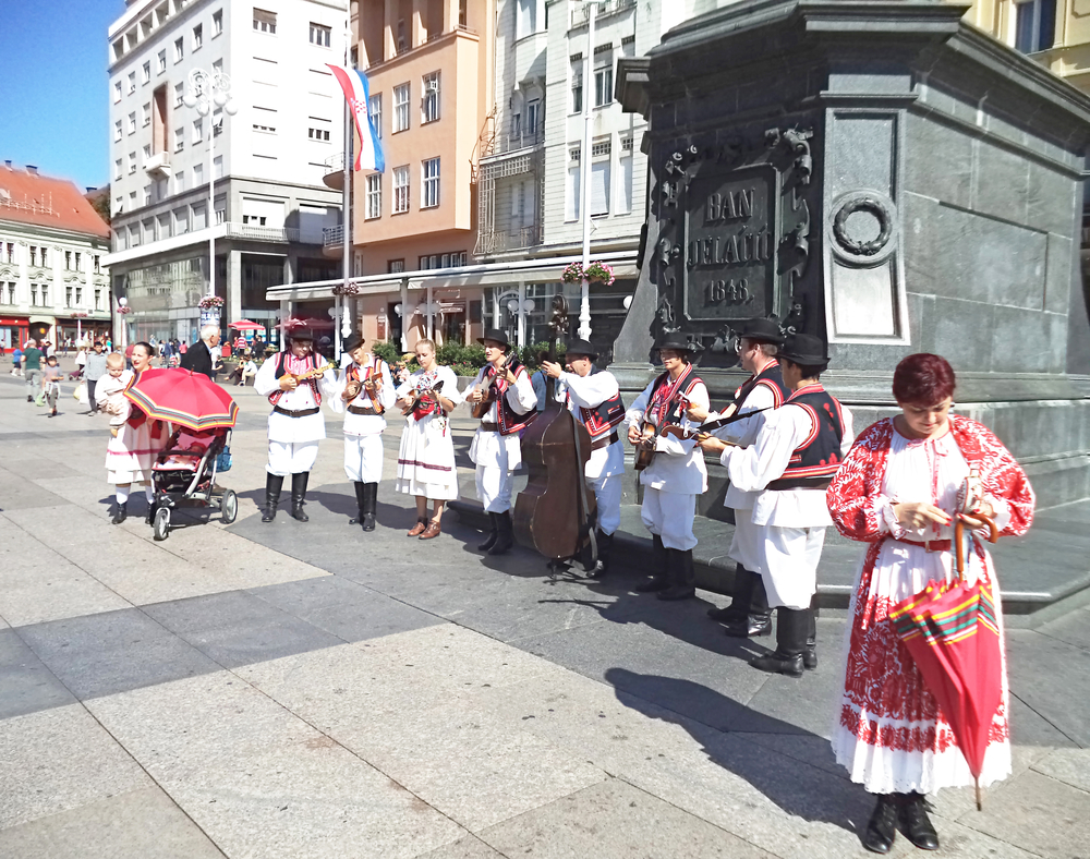 Zagreb, Croatia, cultural associations in folk costumes_402700909