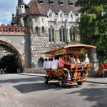 Vajdahunyad castle in main City Park circa _210655426