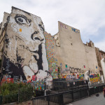 graffiti of Salvador Dali near Centre of Georges Pompidou in Paris_291146195