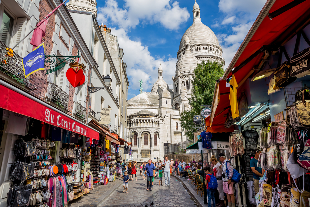 street on Montmartre in Paris_394188901