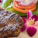 Minced steak burger Hawaiian style_381699952
