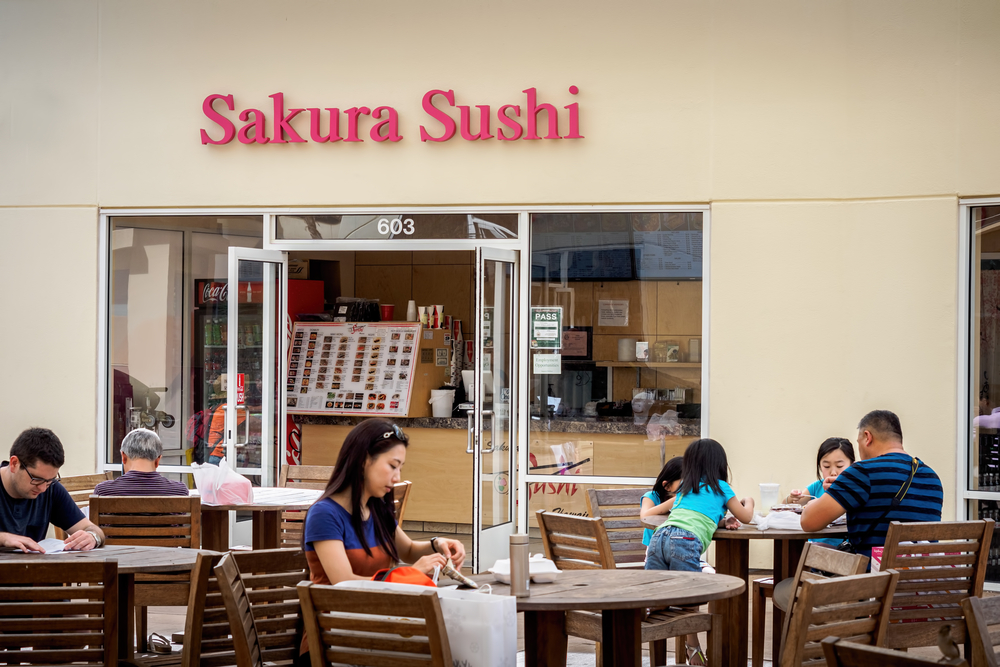 Sakura Sushi at the famous Waikele Premium Outlets_392818957