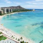 Waikiki Beach and Diamond Head, Honolulu, Oahu Island, Hawaii_408595489