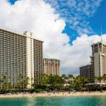 Waikiki Beach area from a boat_397125745