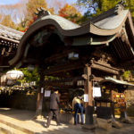 praying at Todaiji Nigatsudo Shrine in Nara_351986096