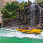 Jurassic park ride at Universal studios hollywood_283705541