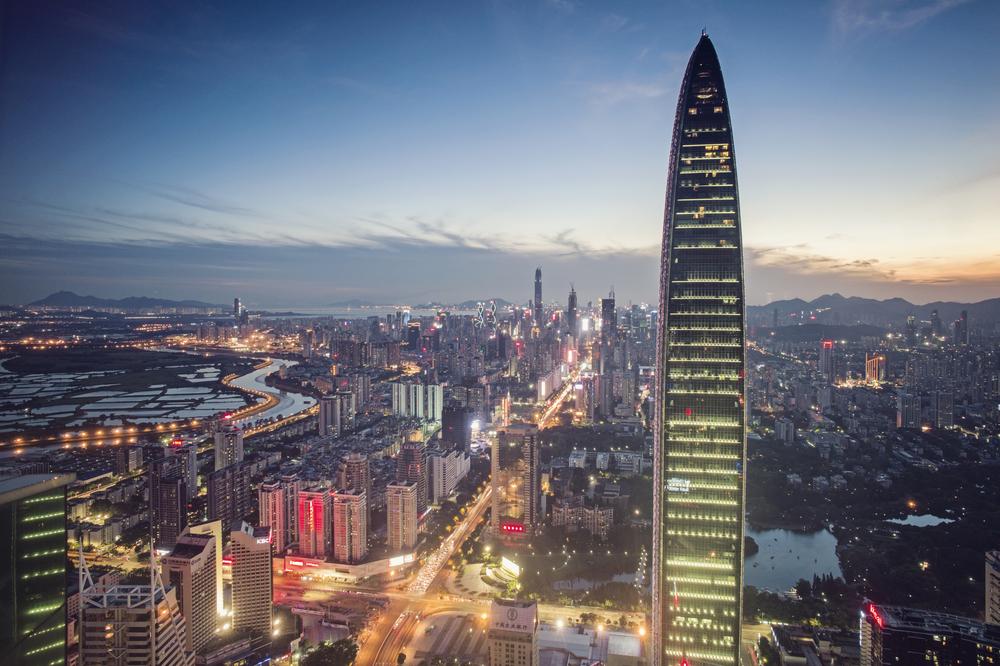 Shenzhen skyline at dusk_302435285