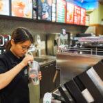 interior of Starbucks Cafe_369575654