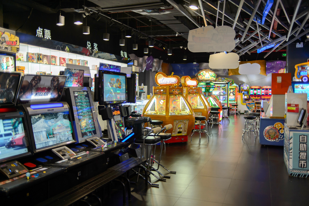 interior of game zone in COCO Park shopping center_348052715
