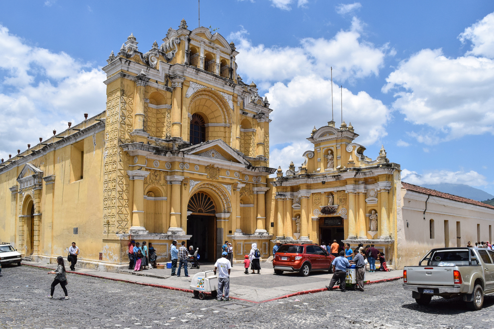 colonial buildings in Antigua Guatemala_340721159
