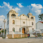 church isla de flores guatemala island central america_297475457